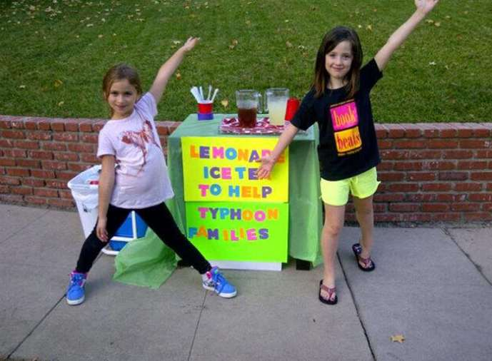typhoon haiyan lemonade stand
